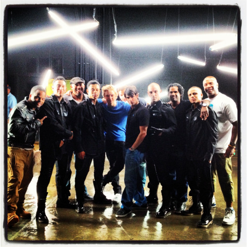 "On set with the crew for Cody Simpson's ""so listen"" music video."