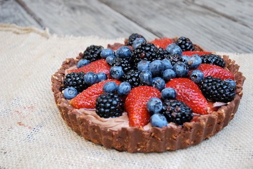 "Who ""likes"" sweet and salty?!! A No-Bake Nutella & Berry Pie with Chocolate Pretzel Crust."" Photo by Laura B.  Help Laura win Womply's Favorite Eats Photo Contest by clicking the photo and hitting ""Like""! To learn more about the contest, click here."