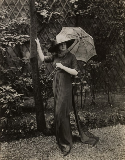 "The photographs Lucile had taken of her 'mannequins' in the early 1910s may appear tame by our modern standards, but at the time they were border-line scandalous. Lucile did not shy away from using sex appeal to sell her clothing. Her seductively (for the time period at least) posed models were the forerunners of pretty much every fashion campaign of the last 100 years. Interestingly enough, sex appeal appears to have run in Lucile's family. Her sister, Elinor Glyn, was an author who pioneered women's erotic fiction and is widely credited with introducing the concept of ""It""."