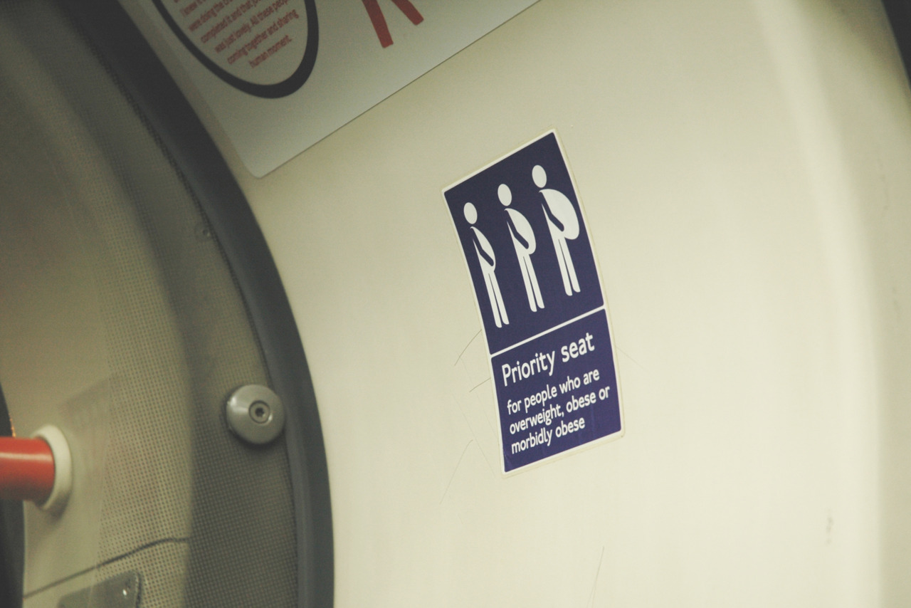 Priority seat for people who are overweight, obese or morbidly obese