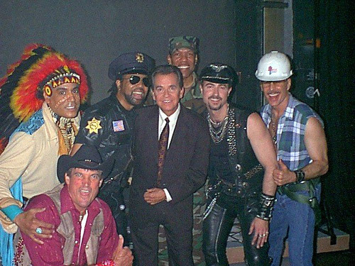 officialvillagepeople:  Village People mourn the death of their friend Dick Clark.  We loved him and he loved the group. It was on his amazing show American Bandstand that the dance to YMCA was created, and he invited the group to perform on so many of his special programs as well.  In his office he had 3 photos: The Beatles, Rolling Stones and Village People! Dick Clark did more for the development of American music than almost anyone and he did it with love and respect.  We honor him and miss him so much.  Please join us here with your memories of a great man.