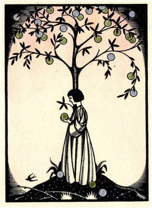 wallacegardens:  Book plate for Lily Yeats, from Poems by W. B. Yeats (1935).
