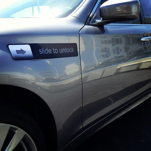 shumbodynamedharry:  Slide to unlock car #thefuture (Taken with instagram)