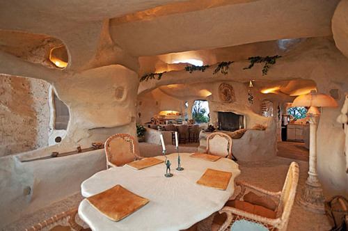 shortformblog:  Dick Clark owned a Flintstones-inspired home, which he put on the market just weeks before he died for $3.5 million. This just goes to show how how awesome he really was.