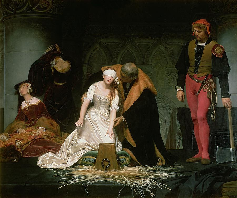 vrgn:  blood-bath:  The Execution of Lady Jane Grey, Paul Delaroche, 1833  favorite painting in the world, i have it hanging in my room