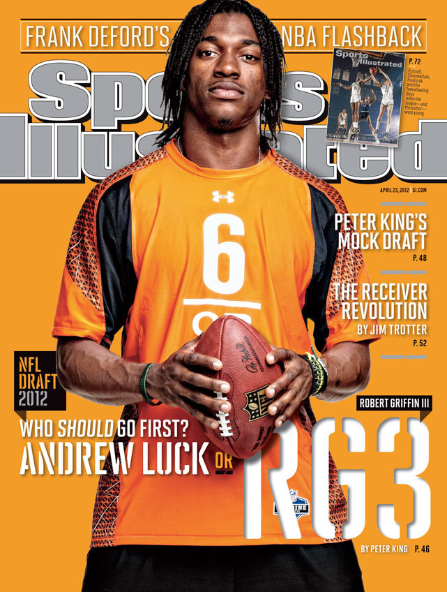 This week's SI cover features Robert Griffin III in the magazine's annual NFL Draft preview. (Todd Rosenberg/SI)