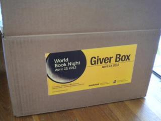 half-pint:  Picked up my box of books for World Book night!  YAY YAY!!!!