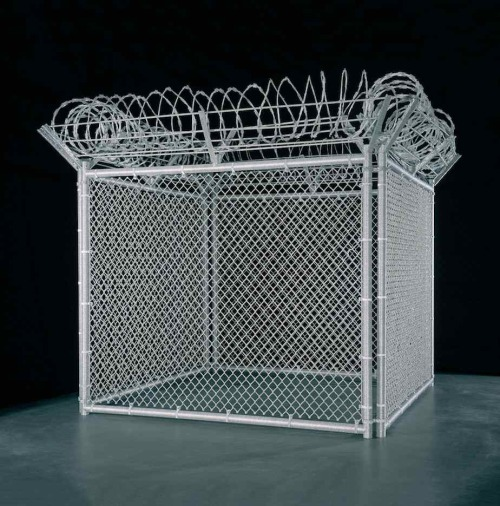 Liza LouSecurity Fence (2005)glass beads, steel armature