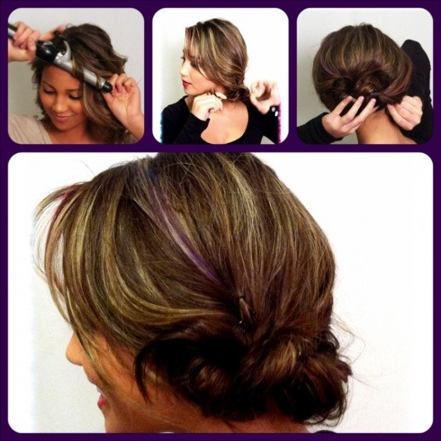 Side knot with a spin