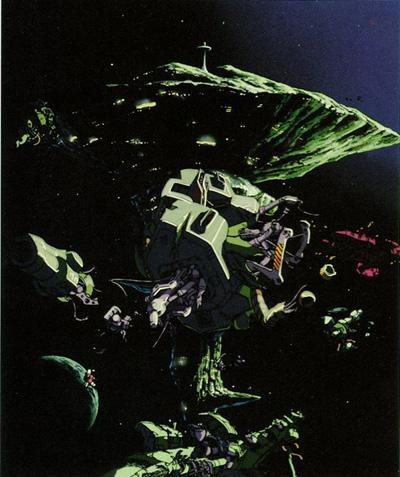A Bao A Qu referenced in Mobile Suit Gundam, as a space fortress.
