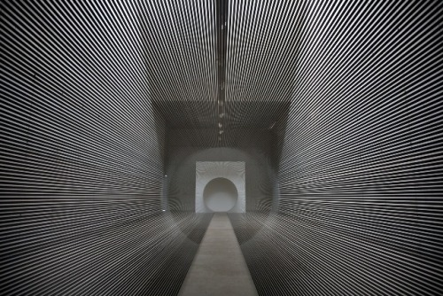 lines as tunnel as art via i like this art