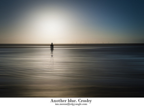 Another blur. Crosby on Flickr.Another blur shot from Crosby beach along with one of the ironmen of Crosby with the wind farm in the background. Also.. looking forward to the weekend and the big puppets that will be walking around Liverpool.Twitter  |   Tumblr  |   MymodernmetDeviantArt  |  Posterous  |  LivejournalGetty  |  RedBubble  |  YoutubeBlogspot And of course especially here!Flickr