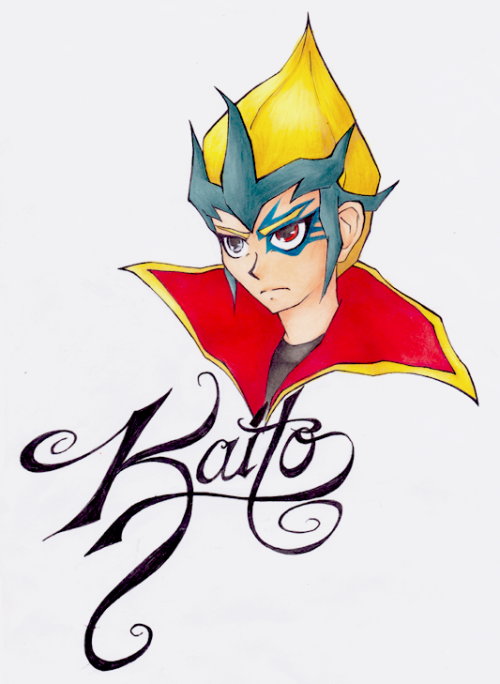 Final Kaito drawing. Colored with copic markers - fixed up slightly in photoshop.