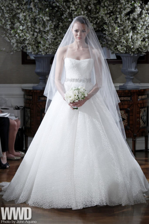 womensweardaily:  Romona Keveza Bridal Spring 2013  Oh very nice! When will i wear gown like this?! ;)