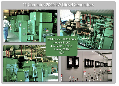 Cummins 20 Megawatt Power Plant! Get 11 Cummins 2000 kW diesel power generators to make a 20 Megawatt Power Plant from Global Power Supply. Click the photo for more information
