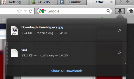 The new Download Manager panel is there! (At least) After a long time, it has finally landed on Nightly. Still need some ironing out. Gory details (please don't spam the bugs, open new bugs and mark them blocking this one if you find problems): https://bugzilla.mozilla.org/show_bug.cgi?id=564934