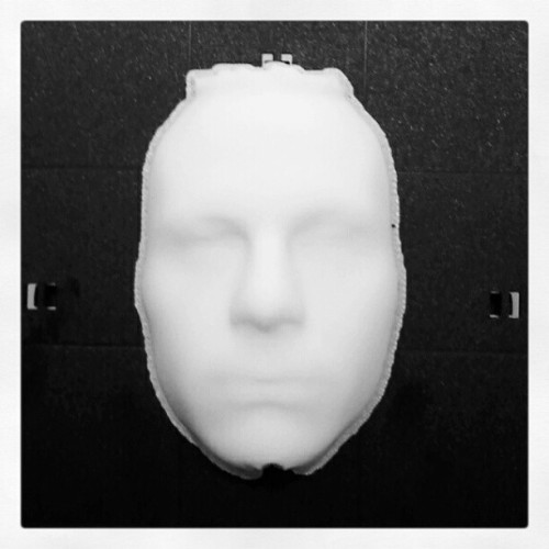 3d print of scanned face. (Taken with instagram)