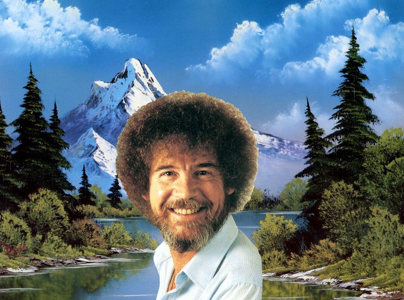 "Bob Ross doesn't give away his knowledge to just anyone… ""Looks like the Grand Tetons.. Teton. For many years I didn't know what that meant. A lady in class finally told me what Teton meant.  And I'm not gonna tell you.  You're gonna have to go look it up.  And when you look it up, you'll know why I didn't tell ya."" —Bob Ross  (Image credit)"