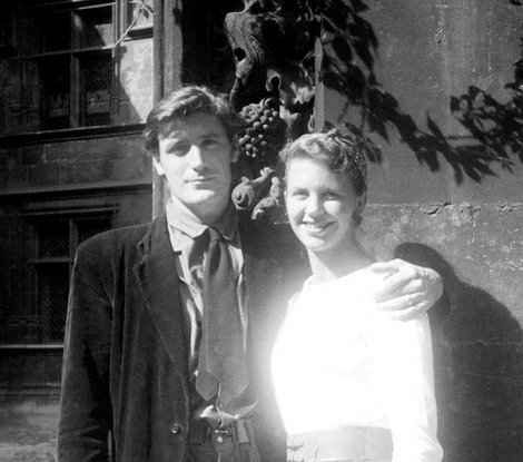 "libraryland:  Ted Hughes and Sylvia Plath on their honeymoon, Paris, 1956 (photo: Warren J. Plath/Mortimer Rare Book Room, Smith College) Read here about Ted Hughes' last poem, ""Last Letter"" in which he wonders about Plath's final days."