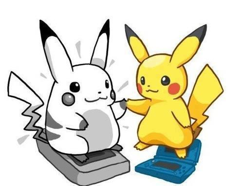 Old pikachu meets new pikachu!