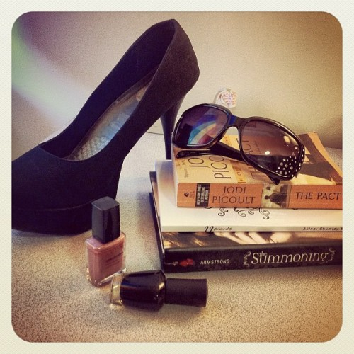 the story of my life. #heels #nailpolish #books #glam #sunglasses #fab #lifeasjoshie (Taken with instagram)