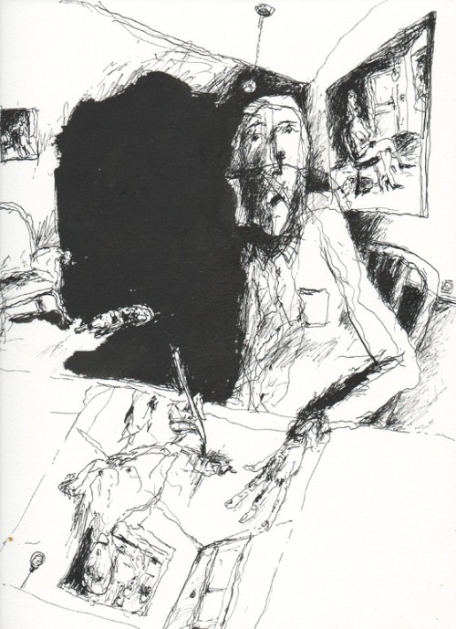 sicksin:   Huneau Denis. Drawing 4, 2011.