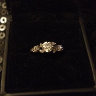 don't know if I've ever shared a picture of my engagement ring with you guys on here… Isn't it gorgeous.