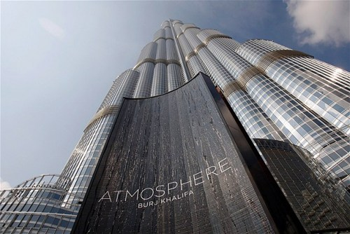 likeabass:  At. Mosphere: the world highest restaurant. Burj Khalifa, Dubai