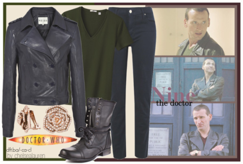 Nine (The Doctor) | Doctor Who by chelsealauren10 featuring rose jewelry