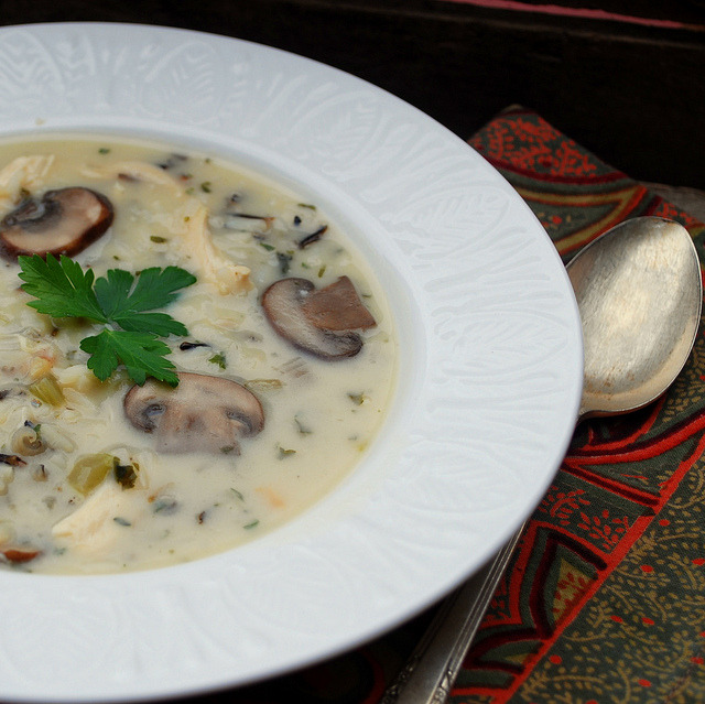 Chicken, Mushroom and Wild Rice Soup