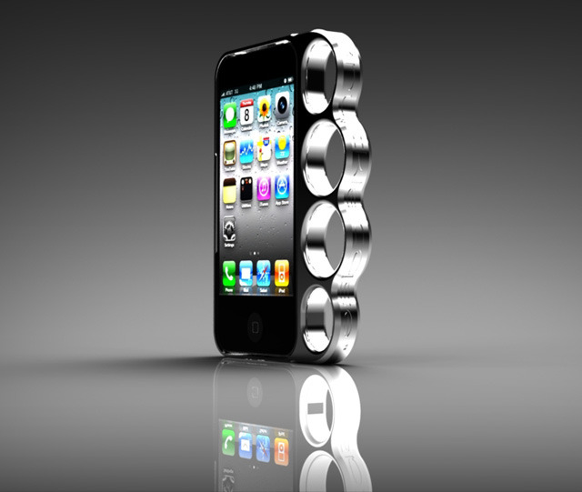 laughingsquid:  Knucklecase, A Badass iPhone Knuckleduster Case