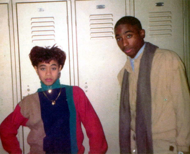 rollininmy64:  supreme-to-all:   Tupac and Jada  in highschool <3  DOPE   He's so cute.