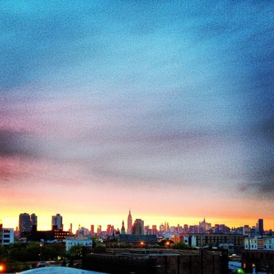 Epic Sunset Brah #nyc #brooklyn #bkallday (Taken with instagram)