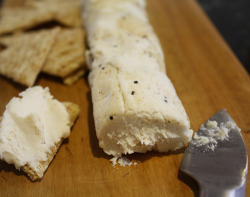 Pepper-Crusted Cashew Vegan Goat Cheese     (click image for recipe)