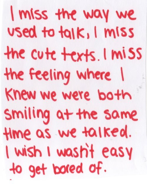 Like or Reblog this if theres someone you care about & Miss alot. </3