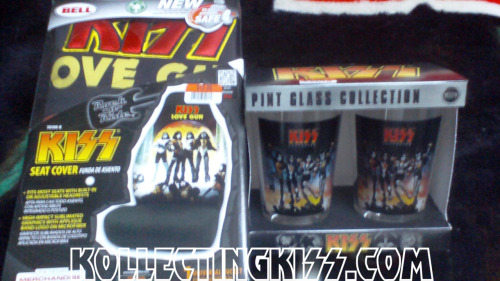 KISS finds at Big Lots. 2 pack of Destroyer glass for only $5.00 and the Love Gun car seat cover for only $10.00. Snag them now at close out prices at your local Big Lots store.