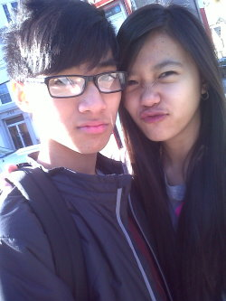 """0405"" (04/18/12) with my baby this morning….. :D"