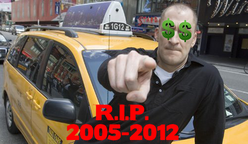BREAKING STORY sad news in the game show universe. cash cab has been cancelled. what the hell will i watch on daytime tv from noon to 4 pm?   The ride's over for Discovery Network's Cash Cab. Vulture has learned exclusively that, after nearly seven years and more than 200 episodes, the cable network has decided to halt production on the Emmy–winning game show. A Discovery PR rep confirmed the demise. Hosted by Ben Bailey, Cab tweaked the conventional quizzer format by recruiting its contestants from the ranks of unsuspecting taxi passengers. Folks hopped in expecting a cab ride but were then told they were on a TV game show and had a chance to win money by answering questions as they drove toward their destination.   Because it usually aired outside of prime time, Discovery never made a big deal out of the show's Nielsen ratings, but TV insiders clearly loved it. Cash Cab beat out veterans such as Jeopardy! and The Price is Right to win the Daytime Emmy for Best Game Show in 2008, 2009, and 2010; Bailey won for Best Host in 2010. Repeats of the show will continue to air in syndication, and it's possible producer Lion Television could shop the show, which was basked on a European format, to other cable networks. Meanwhile, city commuters looking to get rich can only hope that somewhere, someone is working on Bus Billionaire.