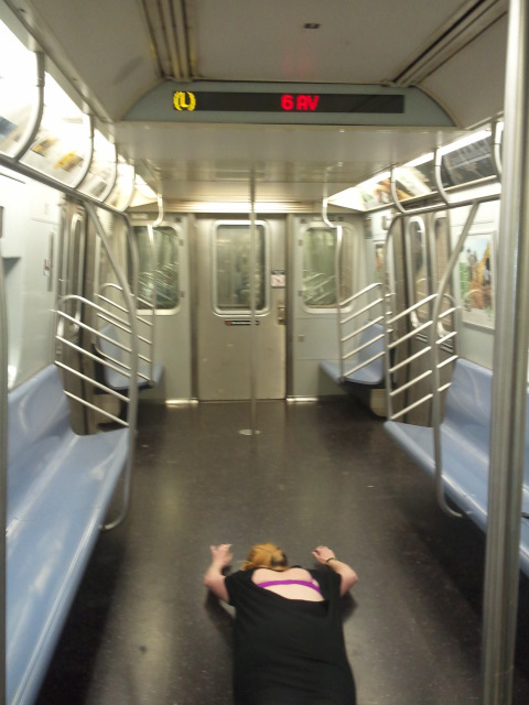 DEATH BY SHOCK: THAT THERE IS NO ONE ON THE L TRAIN