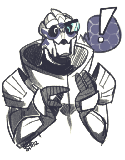 I can't believe I've drawn Garrus only once before this.
