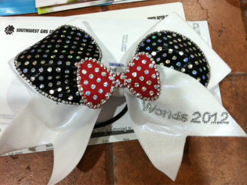 Cutest cheer bow ever!!!!