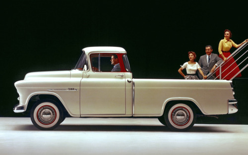 1955 Chevrolet Cameo Carrier.