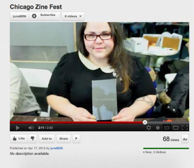 chloekenning:  someone made this video of the chicago zine fest; i thought they were taking still shots. dontchya just wanna pinch my cheeks  omfg yes. yes for days.