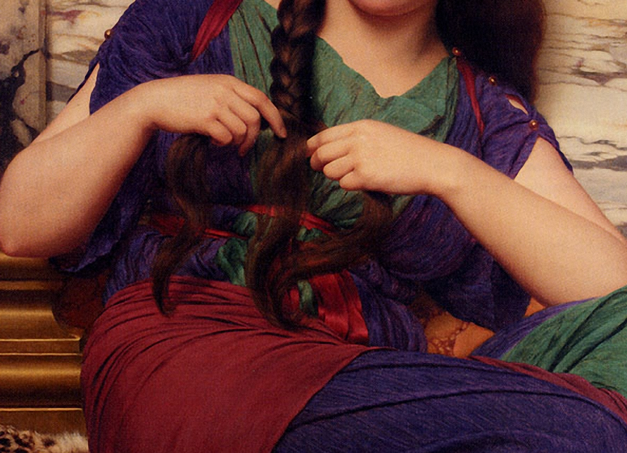 artdetails:  John William Godward, A Congenial Task (detail).