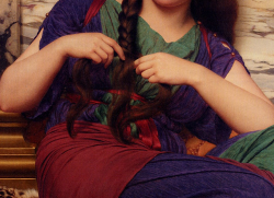 John William Godward, A Congenial Task (detail).