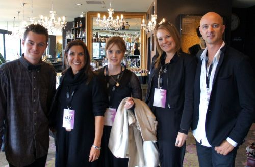 #WFW12 founder Cameron Sneddon, Victoria Taylor, key taylor Boutique staff and Mark Thomson at the Museum Hotel, prior to tonight's show.