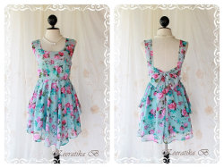 Blue Floral Sundress - $56.40