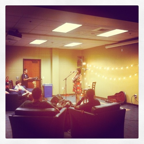 Coffeehouse in the Gameroom, come join us!  (Taken with Instagram at Gameroom)
