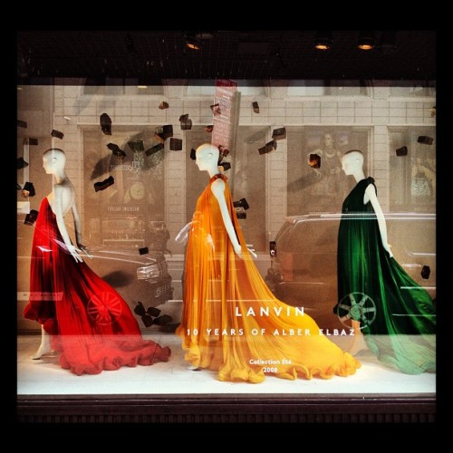 Color. By Alber @barneys #lanvin #barneys (Taken with instagram)