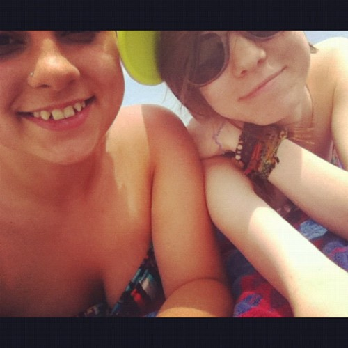 Me and my boo @beach0usewishez layin out  (Taken with instagram)
